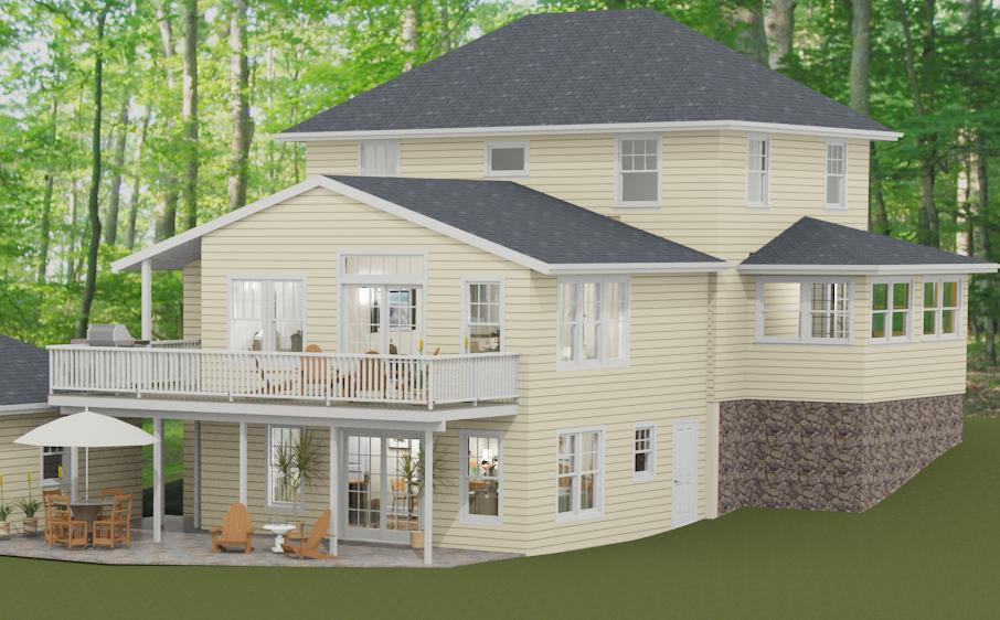Two story addition with in law suite pegasus design to build for In law additions