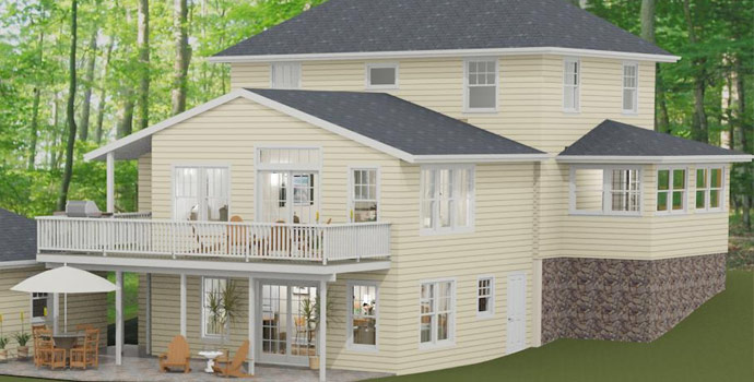 Two story addition with in law suite pegasus design to build for Average cost of in law suite addition