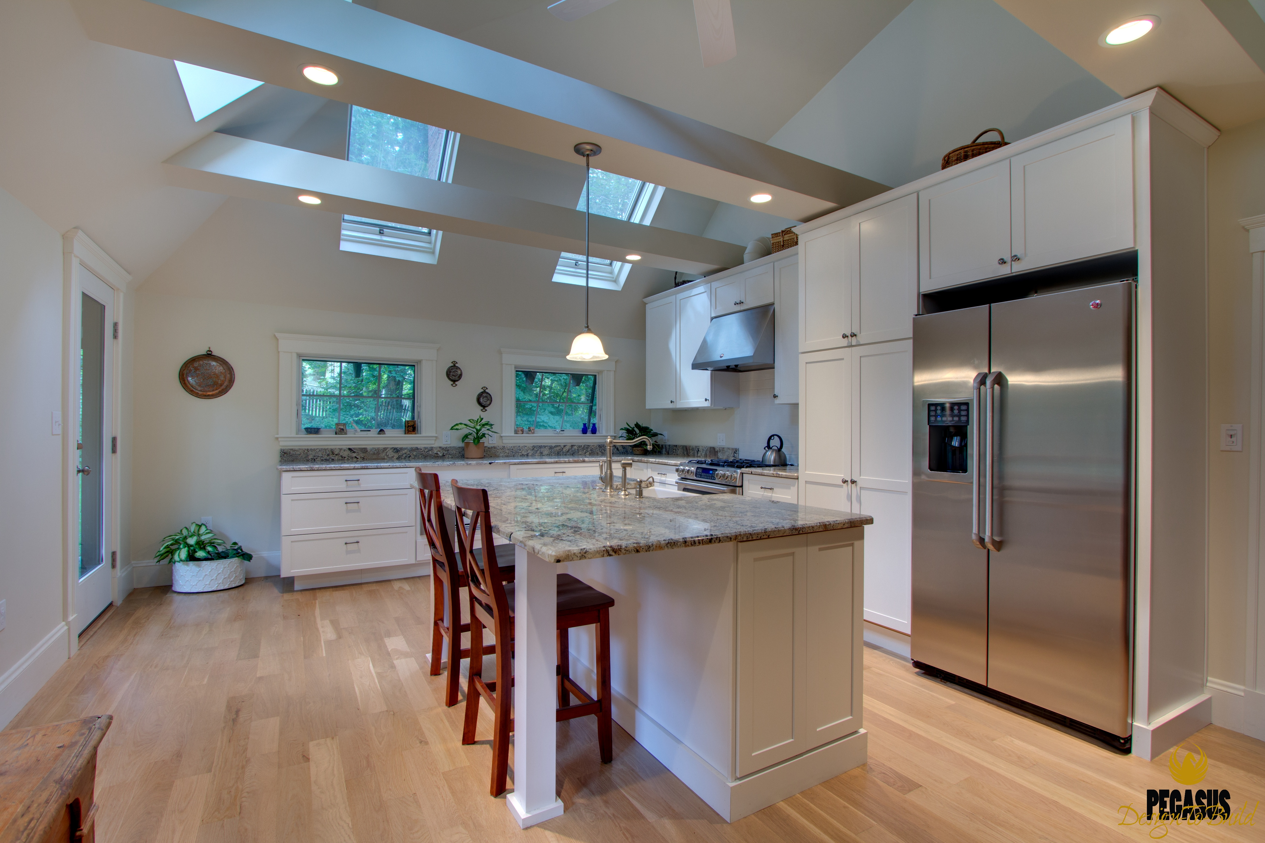 Traditional Open Beam Ceiling Kitchen