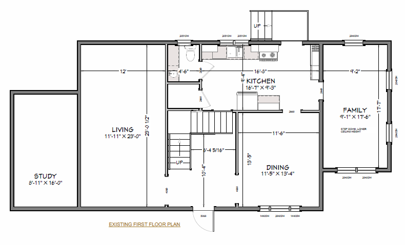 Sample Open Floor Plan Renovation
